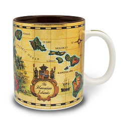 4 Pack Hawaiian Coffee Mugs 14 oz. Islands