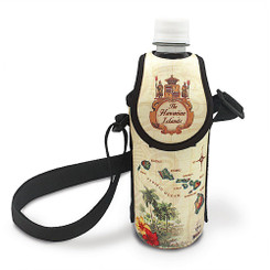 Hawaiiana Bottle Cooler With Strap Islands Tan