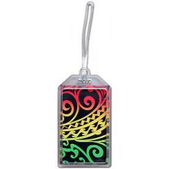 Hawaii Luggage ID Tag Rasta Tribal