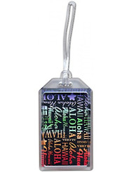 Hawaii Luggage ID Tag Rainbow Aloha