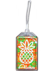 Hawaii Luggage ID Tag Pineapple