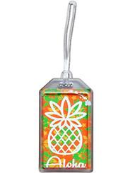 Hawaii Luggage ID Tag Pineapple