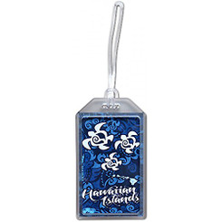 Hawaii Luggage ID Tag Honu Turtle Blue