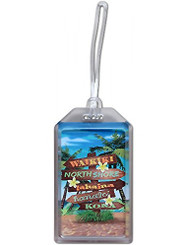 Hawaii Luggage ID Tag Beach Sign