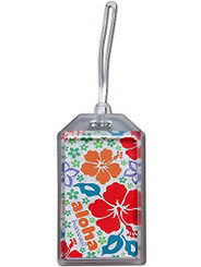 Hawaii Luggage ID Tag Aloha Retro