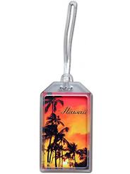 Hawaii Luggage ID Tag Sunset Palms