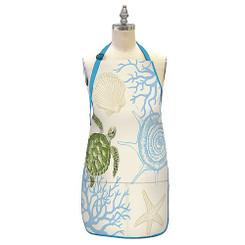 Hawaiian Style 100% Cotton Twill Fabric Apron Honu Turtle Voyage