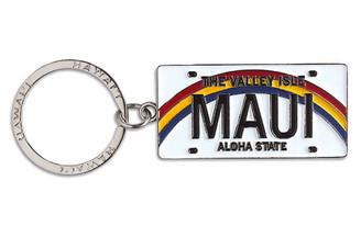 Hawaiiana Keychain Metal License Plate Maui