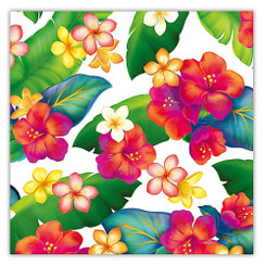 Island Blossoms Hawaiian Continuous Gift Wrap Paper 2 Rolls
