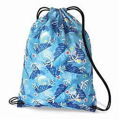 Hawaiian Style Drawstring Backpack Honu Turtle Floral