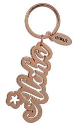 Hawaiian Key Chain Copper Plated Aloha
