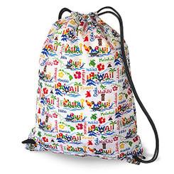 Hawaiian Style Drawstring Backpack Adventures
