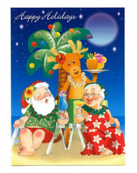 Holiday Happy Hour Hawaiian Christmas Cards Box of 12