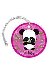 San Diego Die-Cut Luggage Tag Panda