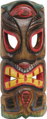 Hawaiian Style Wood Wall Decoration Tiki Mask Cobra