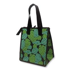 Hawaiian Insulated Lunch Bag Monstera Black