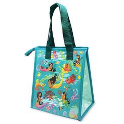 Hawaiian Insulated Lunch Bag Island Hula Mermaids