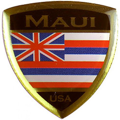 Hawaiian Lapel or Hat Pin Flag Shield Maui