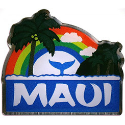 Hawaiian Lapel or Hat Pin Rainbow Maui