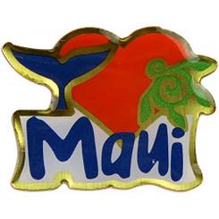 Hawaiian Lapel or Hat Pin I Love Maui