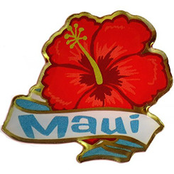 Hawaiian Lapel or Hat Pin Hibiscus Maui