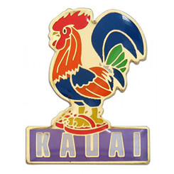 Hawaiian Lapel or Hat Pin Kauai Rooster