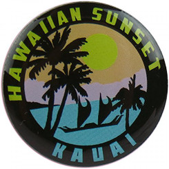 Hawaiian Lapel or Hat Pin Sunset Kauai