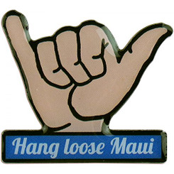 Hawaiian Lapel or Hat Pin Hang Loose Maui