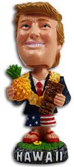 President Trump Hawaii Bobble Head Dashboard Doll Tiki Pineapple