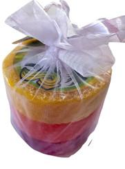 Bubble Shack Hawaii Loofah Soap Trio Organza Set 3 Bars Rainbow Set