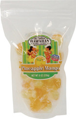Hawaiian Hard Candy Pineapple Mango 4 Bags 8 oz. Each