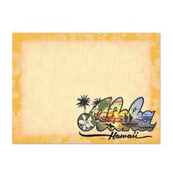 6 Rectangular Stick n Notes Aloha Hawaii