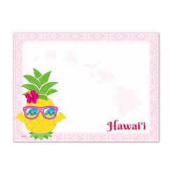 6 Rectangular Stick n Notes Hawaii Pineapple Shaka