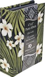 Photo Album Fabric Covered 92 View Plumeria Palm
