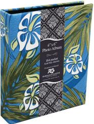 Photo Album Fabric Covered 184 View Hibiscus Honu Turtle Palm