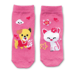 Keiki Kreations Toddler Socks One Size 12-24 Months Island Yumi Friends Paw Pals