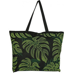 Monstera Palm Two Tone Tote Bag