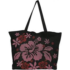 Red Hibiscus Mesh Tote Bag