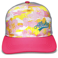 Island Caps Hawaiian Inspired Baseball Hats Aloha Camo Pink