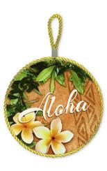 Hawaii Ceramic Tile Trivet Aloha Plumeria