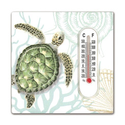 Hawaiian Style Thermometer Ceramic Magnets Honu Voyage