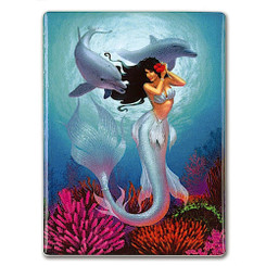 Rectangular Ceramic Magnet Mermaid Jewel