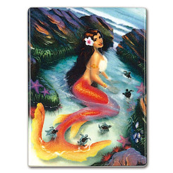 Rectangular Ceramic Magnet Mermaid Coral