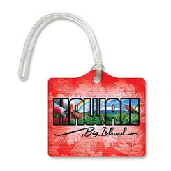 Die Cut ID Luggage Tag Hawaii Big Island
