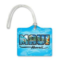 Die Cut ID Luggage Tag Maui Hawaii