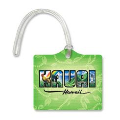 Die Cut ID Luggage Tag Kauai Hawaii