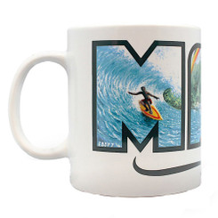 4 Pack Hawaiian Coffee Mugs 14 oz. Maui