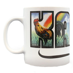 4 Pack Hawaiian Coffee Mugs 14 oz. Kauai