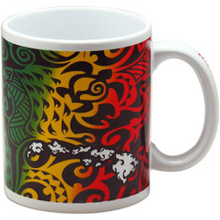 Hawaii Coffee Mugs 4 Pack Tribal Rasta 11 oz.