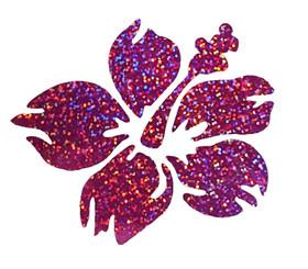 Nalu Blue Hawaiian Decal Hibiscus Fushia